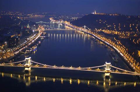 Budapesti hidak légifotó